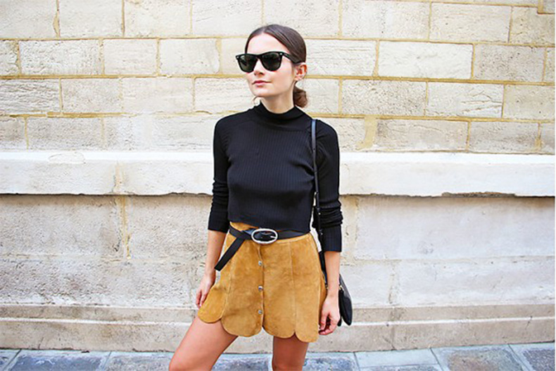 suede-scalopped-mini-skirt-turtleneck-belted-sunglasses-summer-suede-via-life-of-boheme