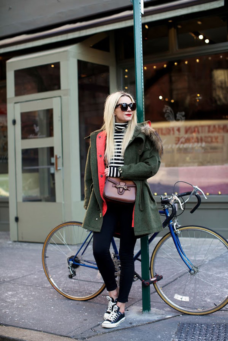 winter-weekend-outfit-striped-turtleneck-green-fur-trim-parka-converse-sneakers-black-skinnies-casual-outfit-atlantic-pacific2