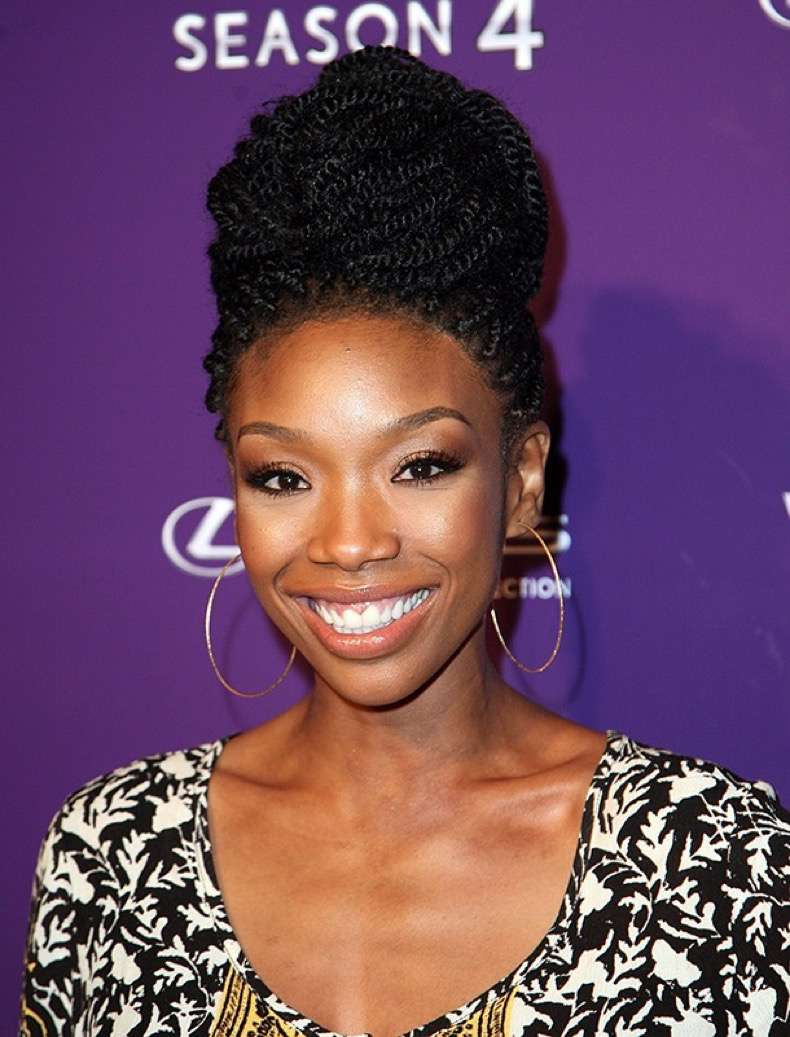 "HOLLYWOOD, CA - MAY 08: Brandy Norwood arrives at ""Verses And Flow"" Season 4 taping presented by TV One at Siren Studios on May 8, 2014 in Hollywood, California. (Photo by Maury Phillips/WireImage)"