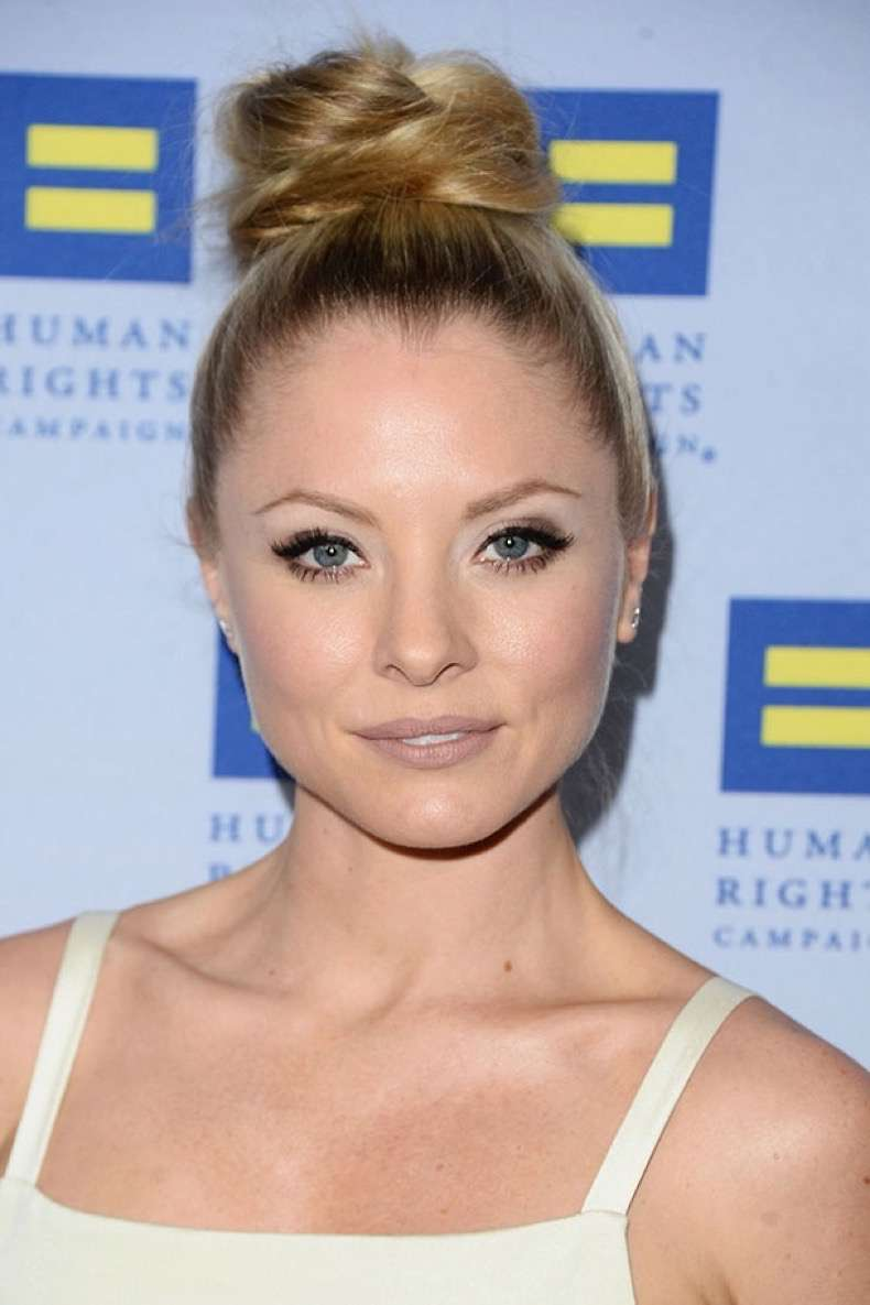 LOS ANGELES, CALIFORNIA - MARCH 19: Actress Kaitlin Doubleday arrives at the Human Rights Campaign 2016 Los Angeles Gala Dinner at JW Marriott Los Angeles at L.A. LIVE on March 19, 2016 in Los Angeles, California. (Photo by Matt Winkelmeyer/Getty Images)