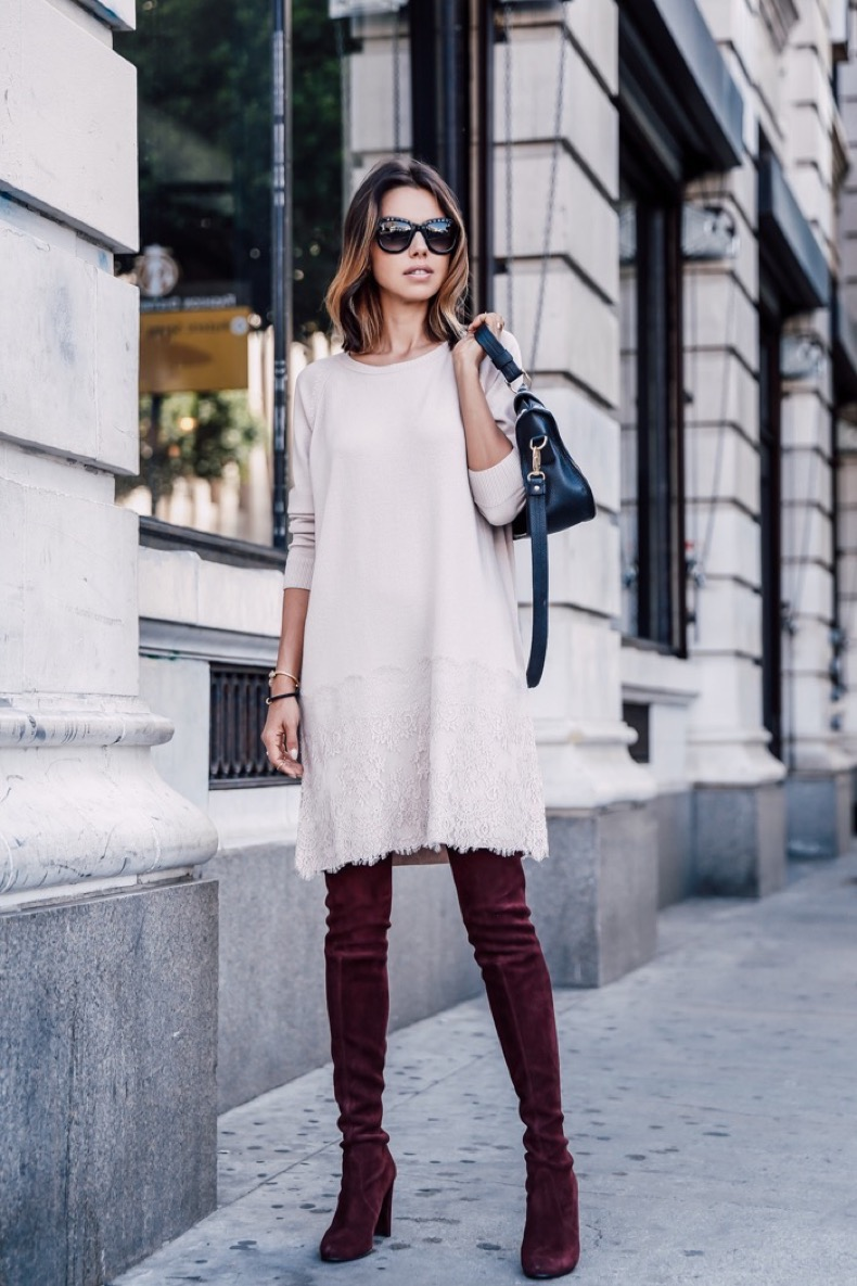 2.-lace-dress-with-knee-high-boots