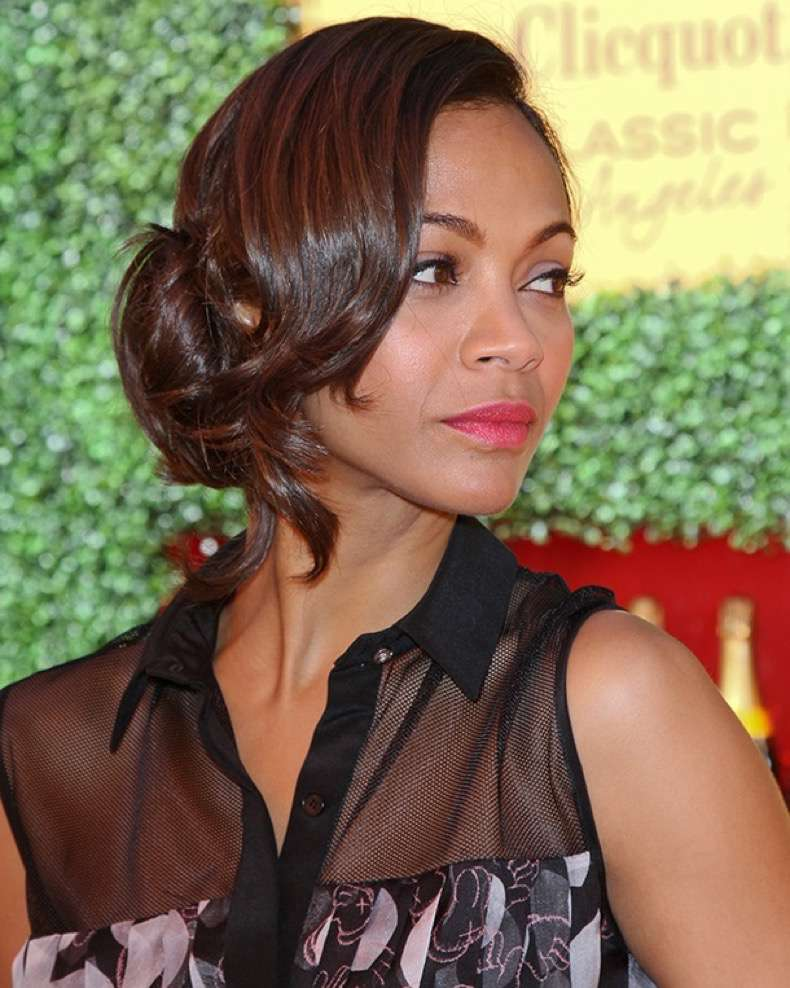 PACIFIC PALISADES, CA - OCTOBER 09: Actress Zoe Saldana arrives at the 2nd annual Veuve Clicquot polo classic at Will Rogers State Historic Park on October 9, 2011 in Pacific Palisades, California. (Photo by Paul Archuleta/FilmMagic)