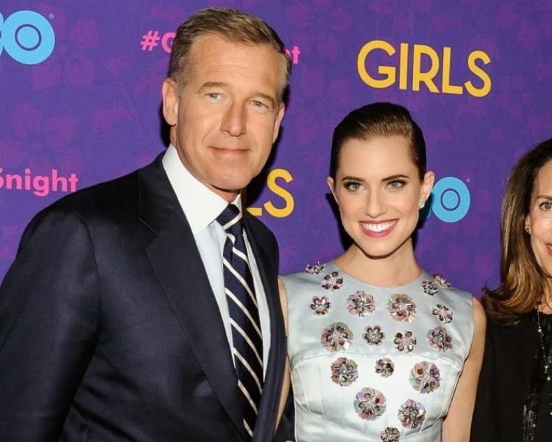 Allison Williams Defends Father Brian Williams-1