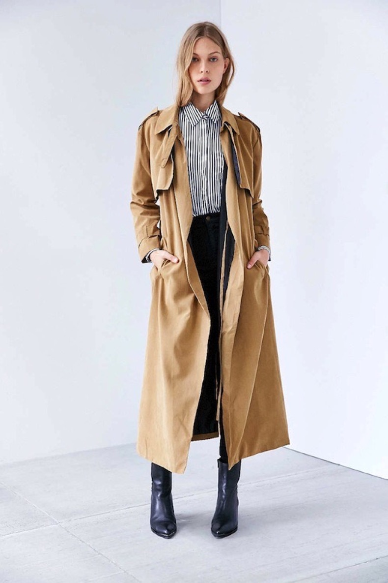 Le-Fashion-Blog-Winter-Style-Long-Trench-Coat-Stripe-Button-Down-Dark-Denim-Point-Toe-Ankle-Boots-Via-UO