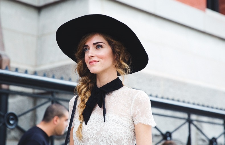 New_York_Fashion_Week_Spring_Summer_15-NYFW-Street_Style-Chiara_Ferragni-Hat-Lace_Skirt-1