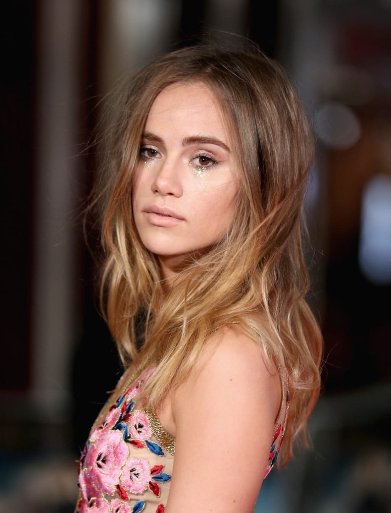 """LONDON, ENGLAND - FEBRUARY 01:  Suki Waterhouse attends the European premiere of """"Pride And Prejudice And Zombies"""" at Vue West End on February 1, 2016 in London, England.  (Photo by Chris Jackson/Getty Images)"""