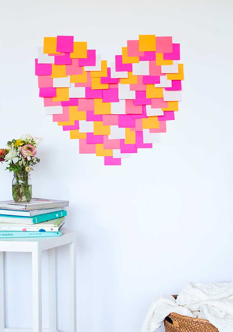 Use-Post-its-create-brightly-colored-art