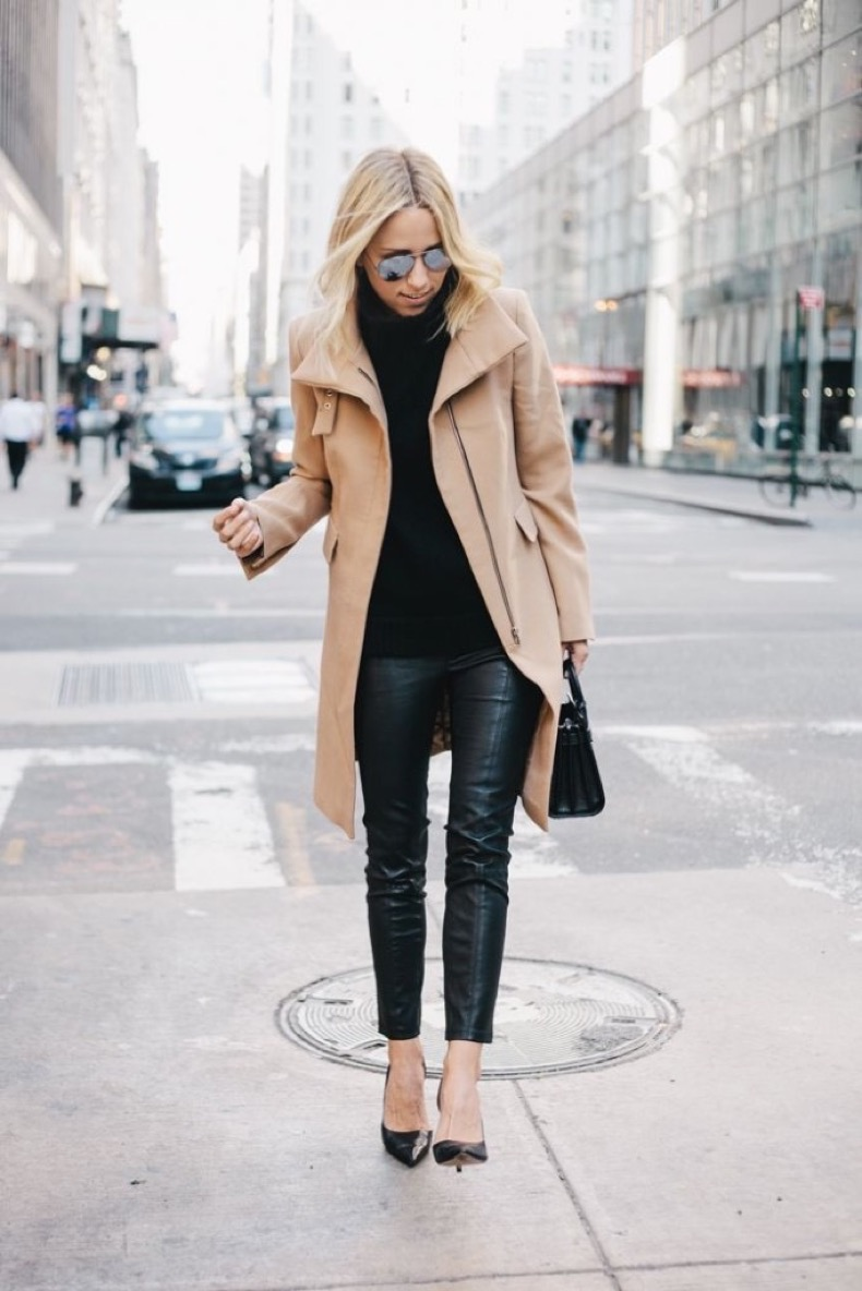 black-leather-skinnies-black-turtleneck-sweater-all-black-black-pumps-camel-coat-all-black-preppy-classic-winter-neutrals-via-damselindior-683x1024