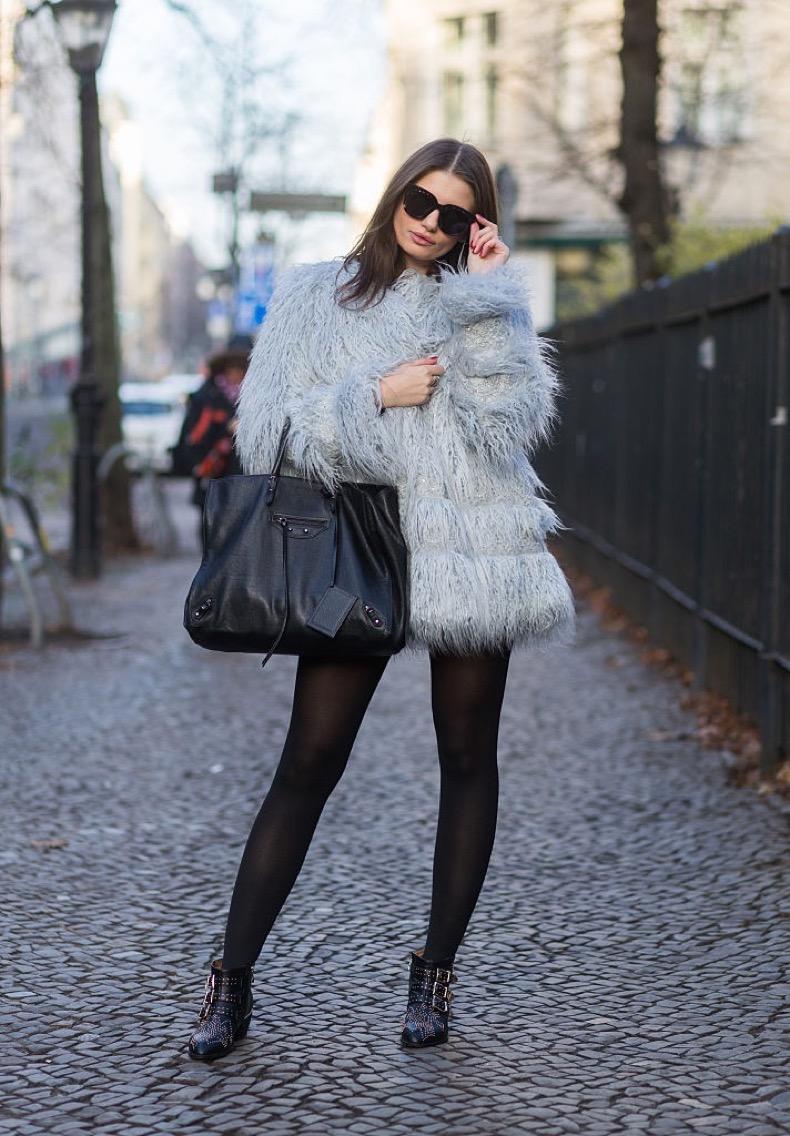 BERLIN, GERMANY - NOVEMBER 27: Maxilie Mlinarskij is wearing H&M jacket, Chloe boots, Balenciaga bag, Gentle Monster sunglasses on November 27, 2015 in Berlin, Germany. (Photo by Christian Vierig/Getty Images)