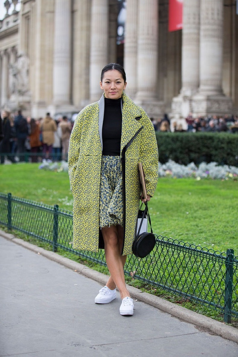 PARIS, FRANCE - JANUARY 26: Tina Leung at the Chanel couture show at Grand Palais on January 26, 2016 in Paris, France. (Photo by Melodie Jeng/Getty Images)