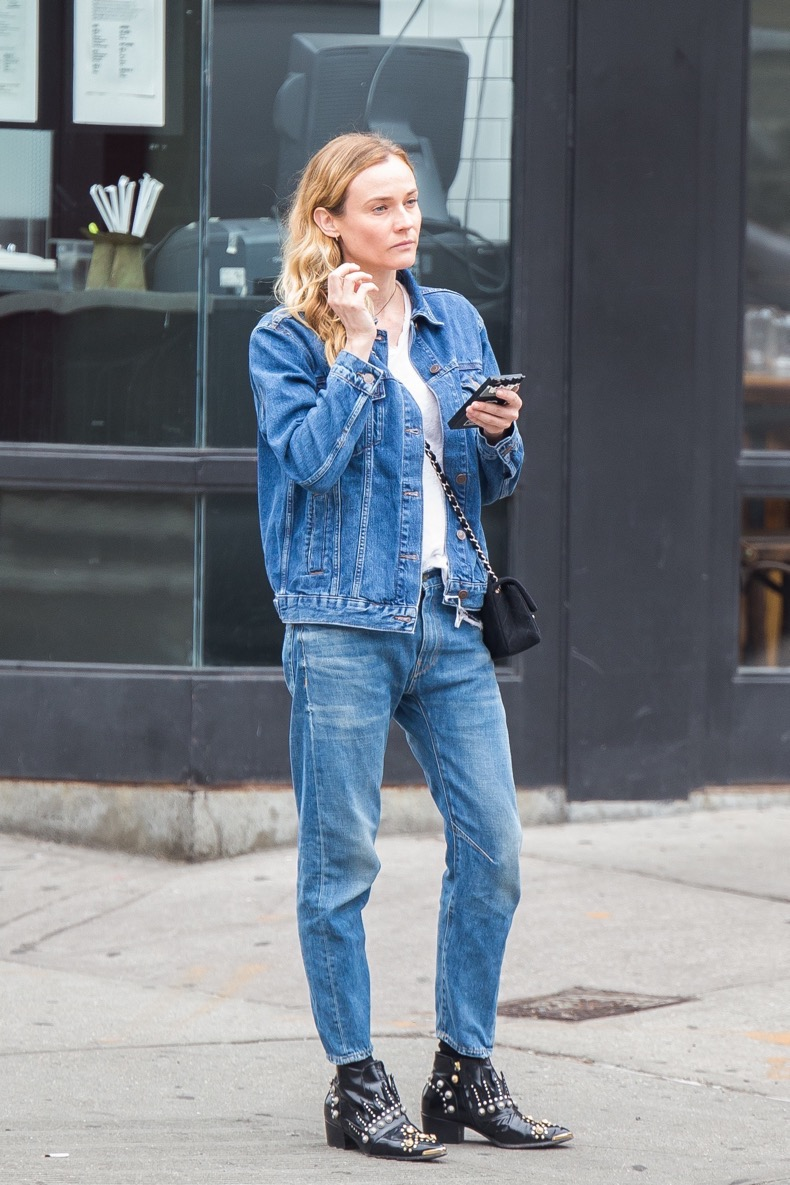 NEW YORK, NY - MAY 13:  Diane Kruger is seen in East Village on May 13, 2016 in New York City.  (Photo by Team GT/GC Images)