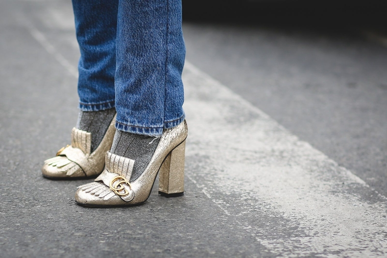 gold-metallic-shoes-loafers-socks-and-shoes-and-jeans-nyfw-street-style-ref29