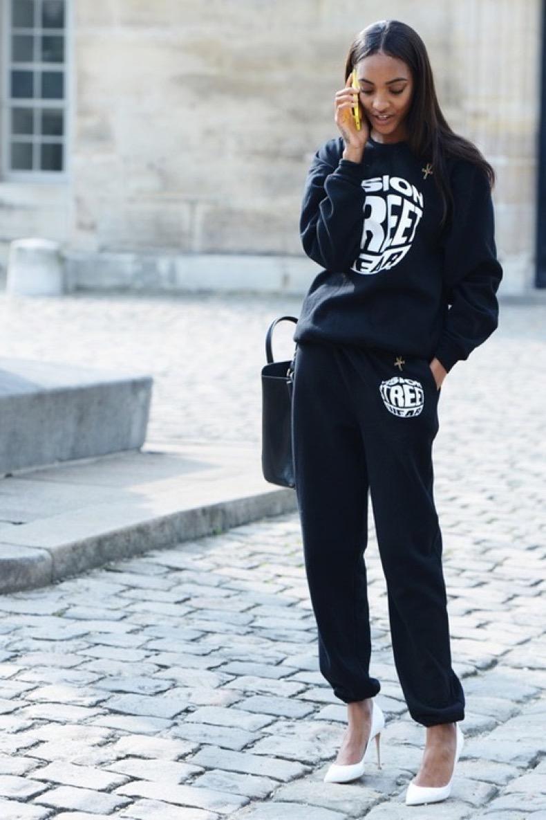 la-modella-mafia-Jourdan-Dunn-street-style-2013-in-Vision-sweats-with-white-pumps
