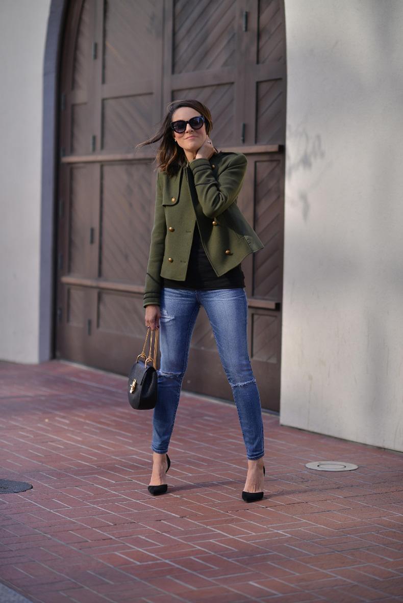 militaryjacket.olivegreen.chloe.zara.streetstyle