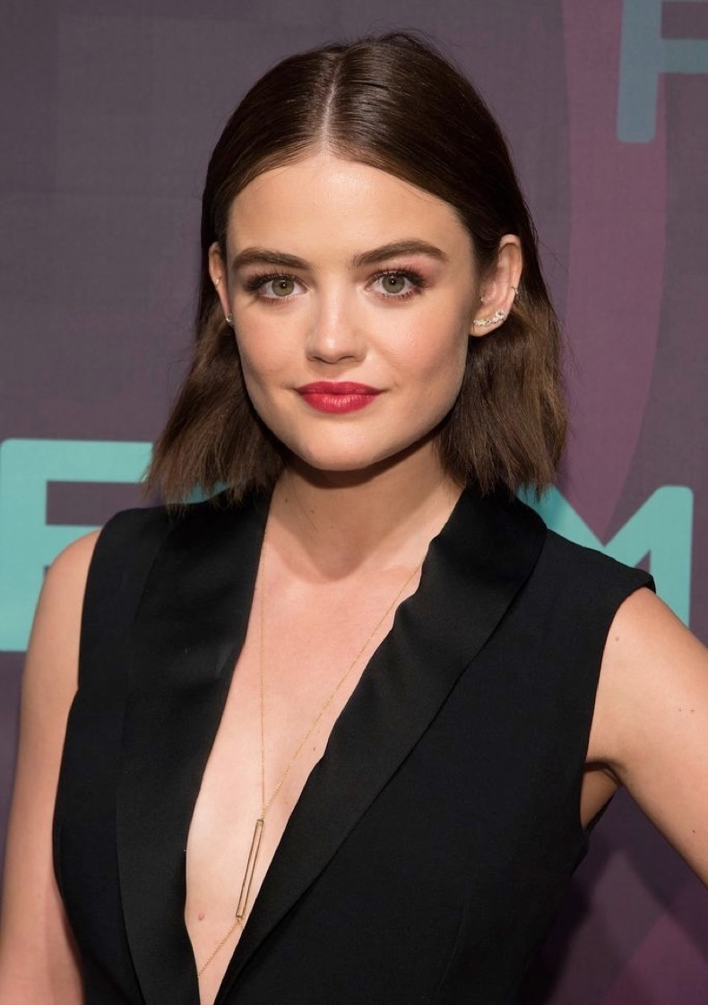 NEW YORK, NEW YORK - APRIL 07:  Actress Lucy Hale attends the 2016 Freeform Upfront at Spring Studios on April 7, 2016 in New York City.  (Photo by Mike Pont/WireImage)