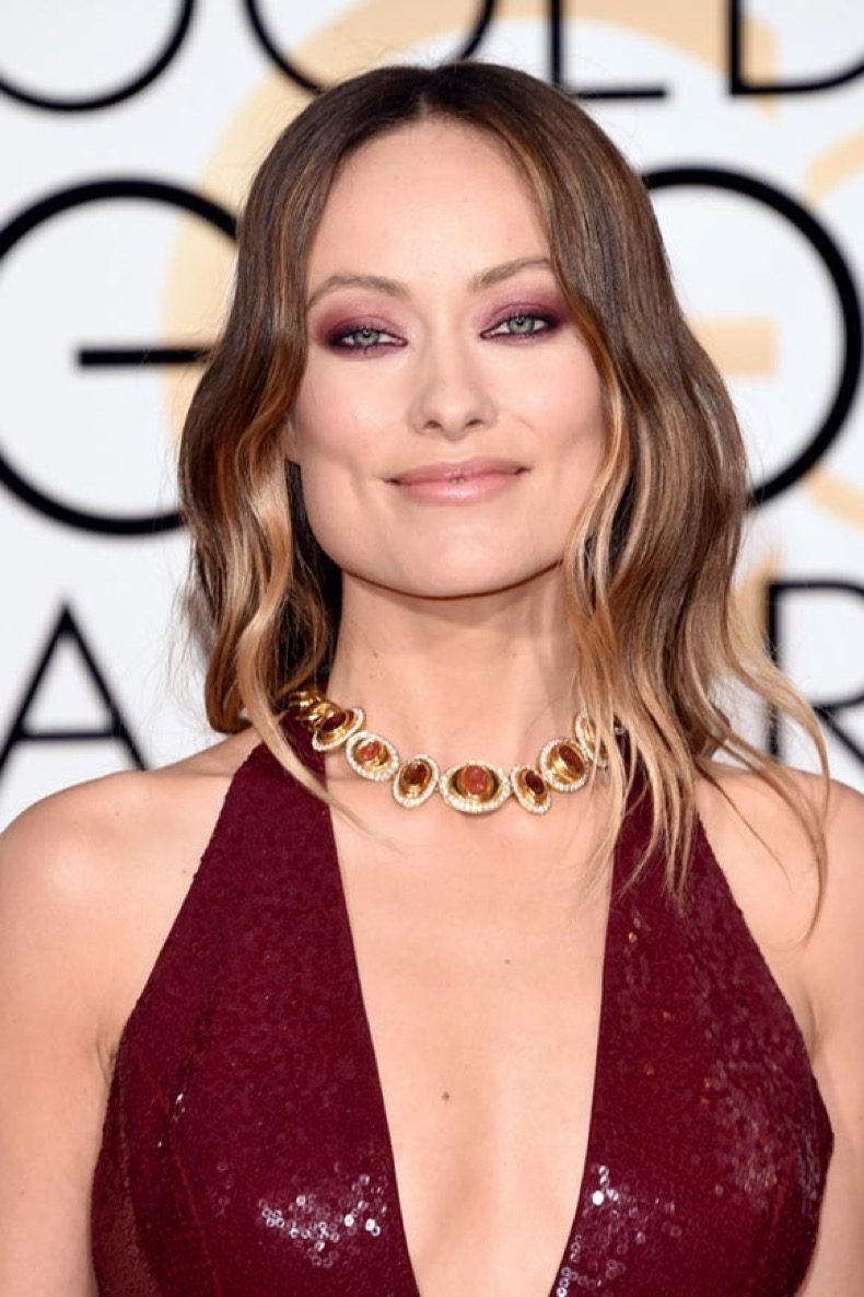 2016_Golden_Globes_hair_makeup_beauty_Olivia_Wilde