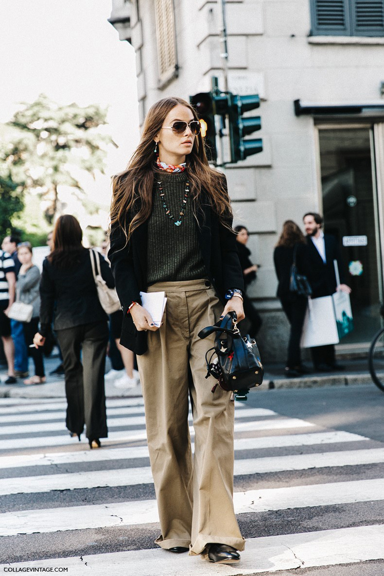 MFW-Milan_Fashion_Week-Spring_Summer_2016-Street_Style-Say_Cheese-Carlotta_Oddi-Gucci_Loafers-Khaki-2-790x1185