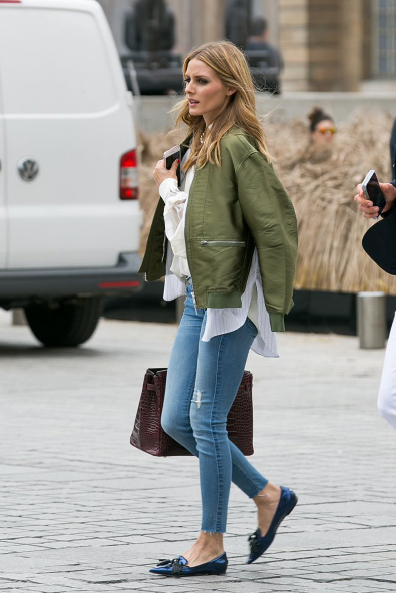 Paired-Same-Shoes-Jeans-Green-Bomber