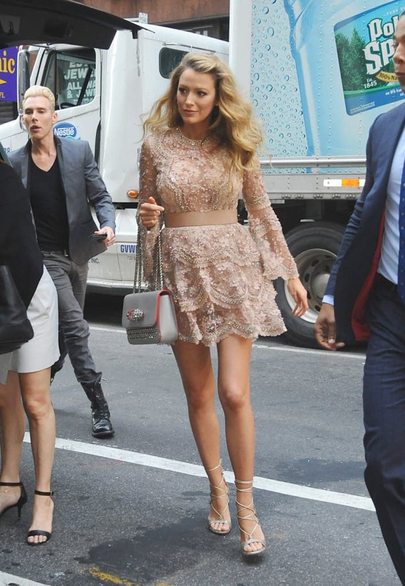 She-dressed-bump-sparkly-Elie-Saab-mini-while-out-NYC