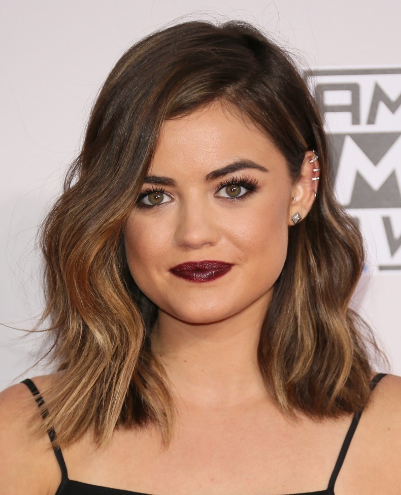 LOS ANGELES, CA - NOVEMBER 23:  Lucy Hale attends the 2014 American Music Awards at Nokia Theatre L.A. Live on November 23, 2014 in Los Angeles, California. (Photo by JB Lacroix/WireImage)