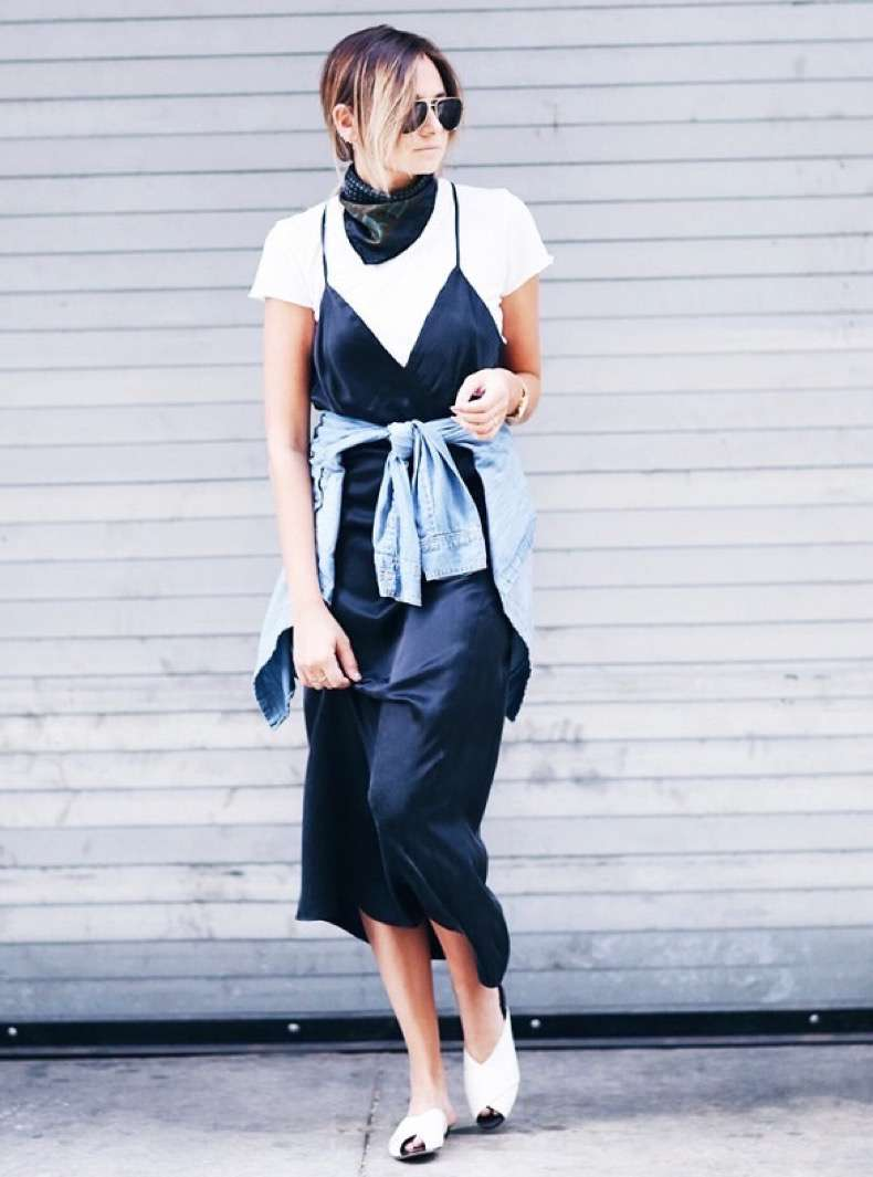 nineties3-white-tshirt-black-satin-slip-dress-layering-skinny-scarf-fashion-blogger-streetstyle-how-to-wear-slip-dress-trend-2016