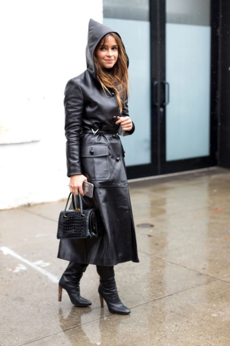 rain-outfit-nyfw-street-style-hoodie-leather-coat-hbz