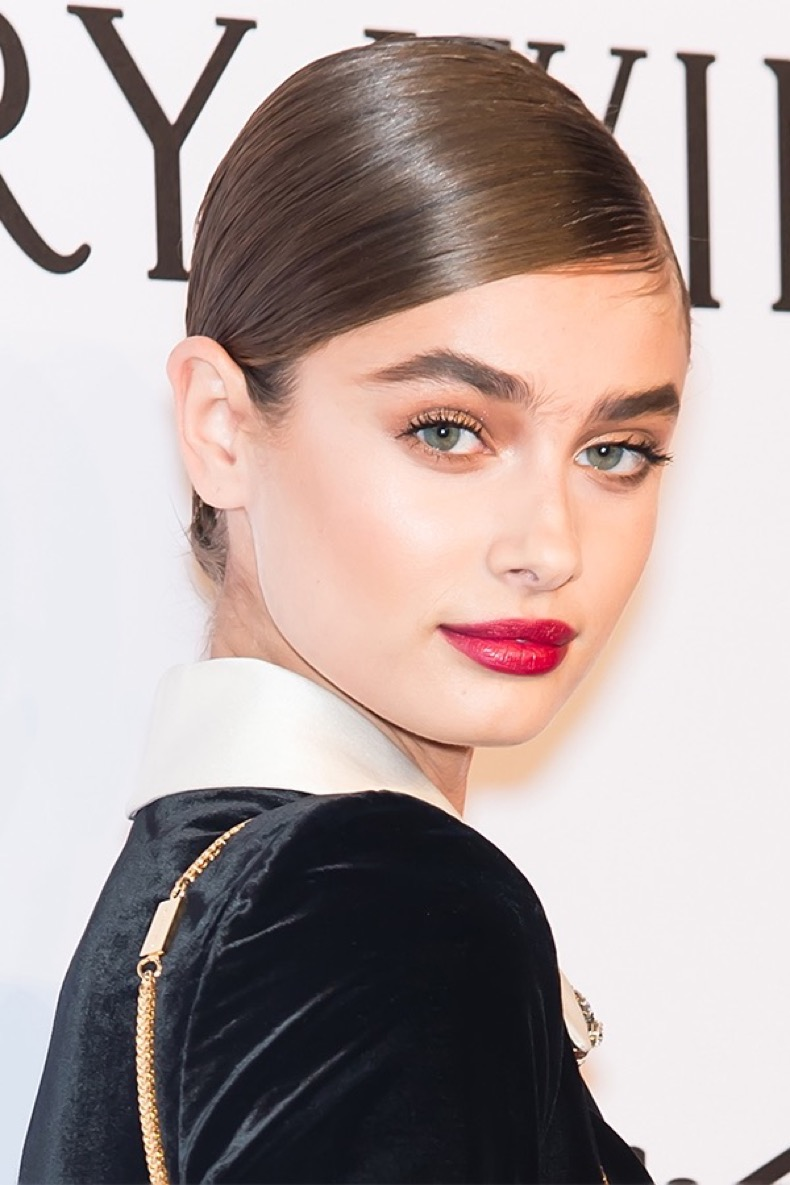 taylor-hill-bright-lipstick