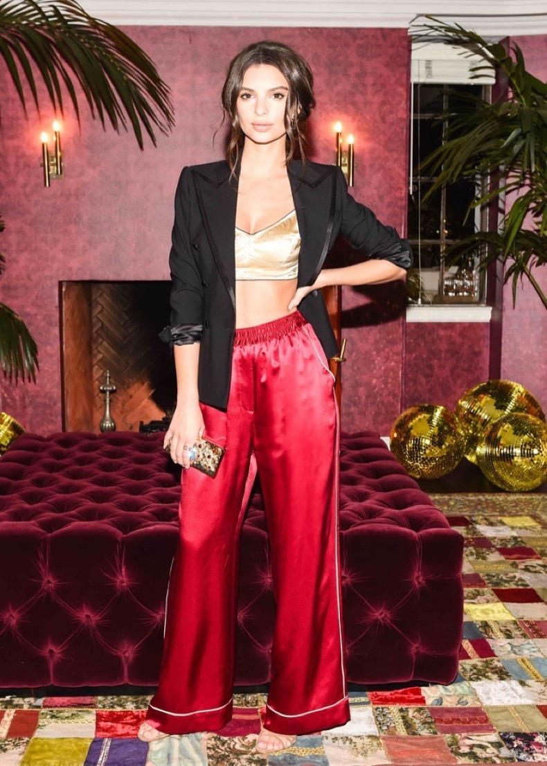 Emily-Ratajkowski-Dolce-Gabbana-Pajama-Party