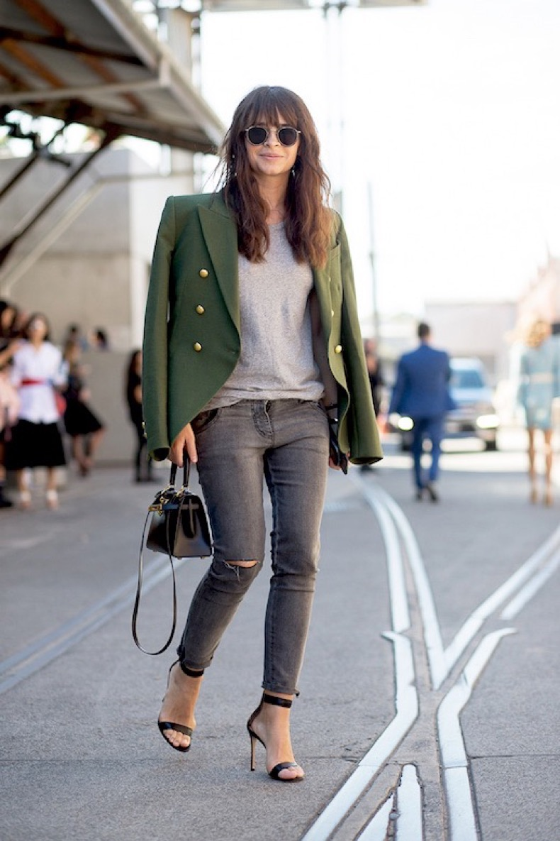 Le-Fashion-Blog-Miroslava-Duma-Street-Style-Round-Sunglasses-Gold-Button-Military-Blazer-Distressed-Denim-Heeled-Sandals-Mini-Satchel-Via-Harpers-Bazaar