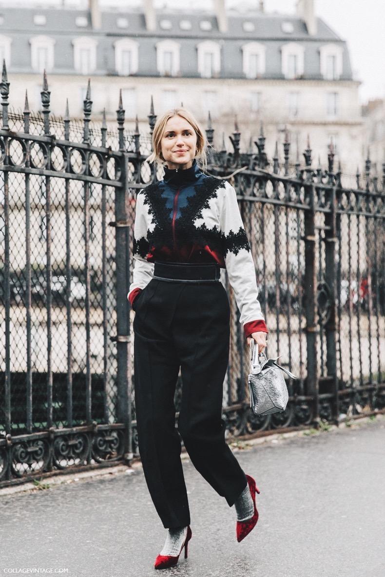 PFW-Paris_Fashion_Week_Fall_2016-Street_Style-Collage_Vintage-Pernille_Teisbaek-Loewe_Bag-2