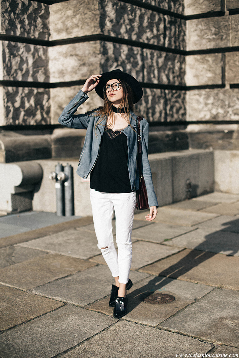 Set-blue-suede-jacket-white-frayed-hem-jeans-spring-trends-2016-Zara-bloucher-shoes-fashion-blogger