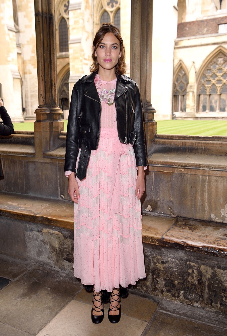 LONDON, ENGLAND - JUNE 02:  Alexa Chung attends the Gucci Cruise 2017 fashion show at the Cloisters of Westminster Abbey on June 2, 2016 in London, England.  (Photo by Karwai Tang/WireImage)
