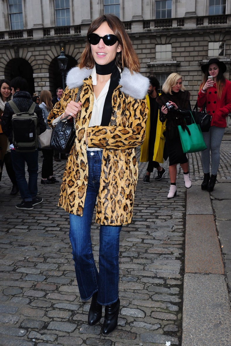 London Fashion Week A/W 2015 - Celebrity Sightings - Day 1 Featuring: Alexa Chung Where: London, United Kingdom When: 20 Feb 2015 Credit: WENN.com