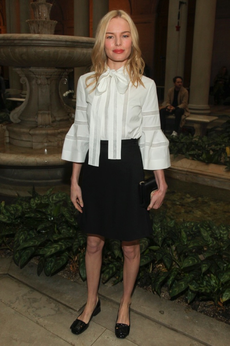 Kate Bosworth attends the Carolina Herrera NYFW Fall/Winter 2016 fashion show at The Frick Collection on Monday, Feb. 15, 2016, in New York. (Photo by Andy Kropa/Invision/AP)