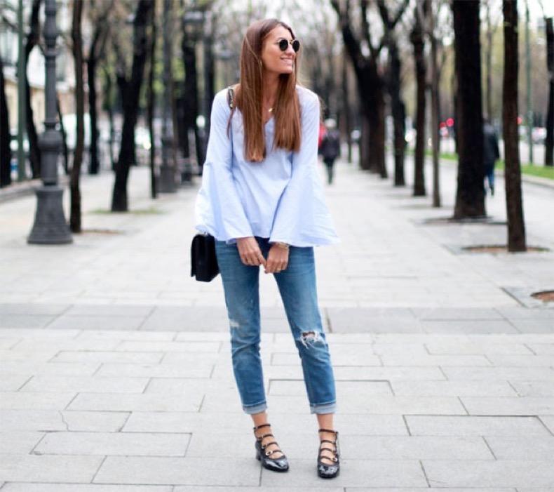 bell-sleeves-trumpet-sleeves-cuffed-jeans-ballet-flats-buckle-flats-via-bloglovin-640x568
