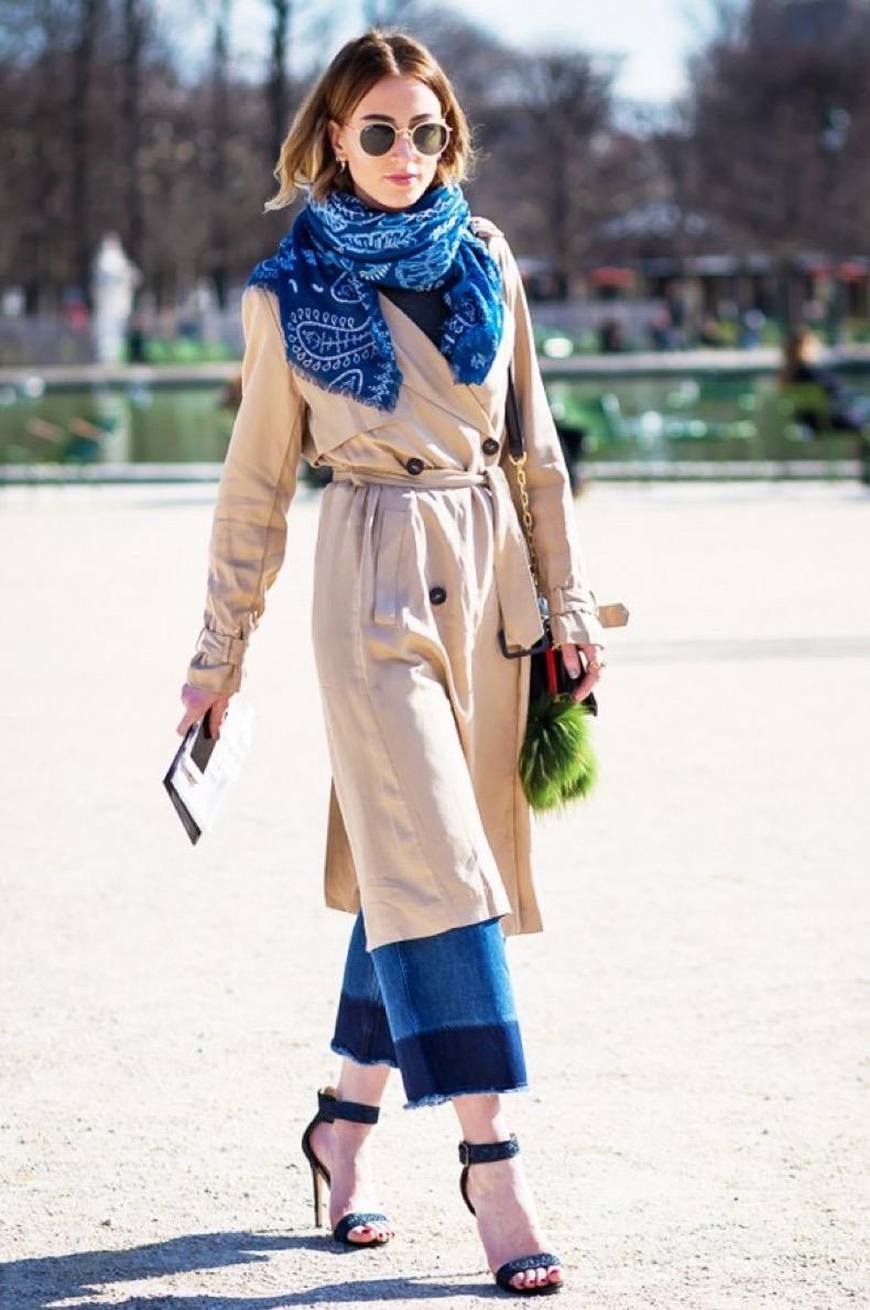 cropped-flares-fringe-hem-cropped-jeans-simple-black-sandals-trench-coat-bandana-style-du-monde