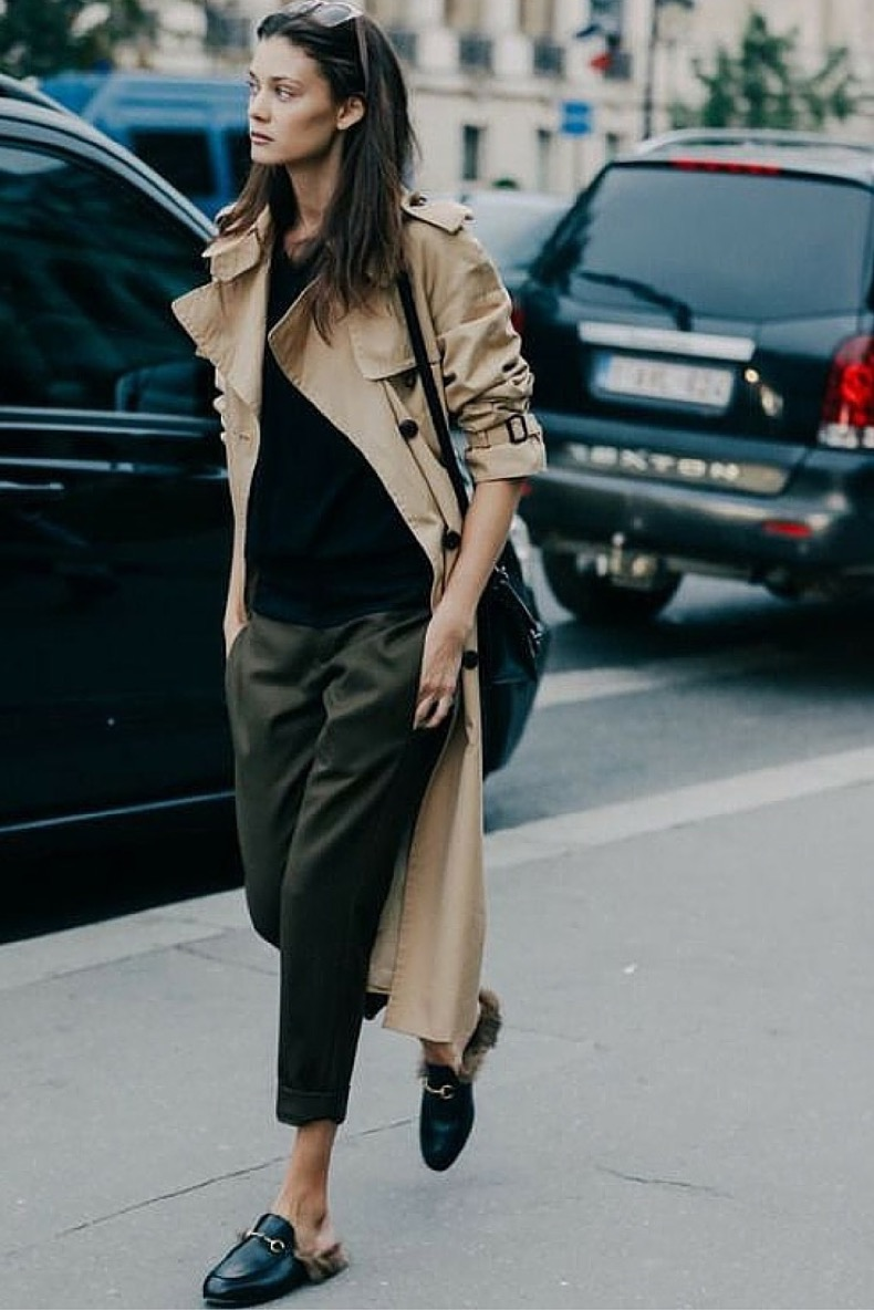 flat-mules-and-trench-coat