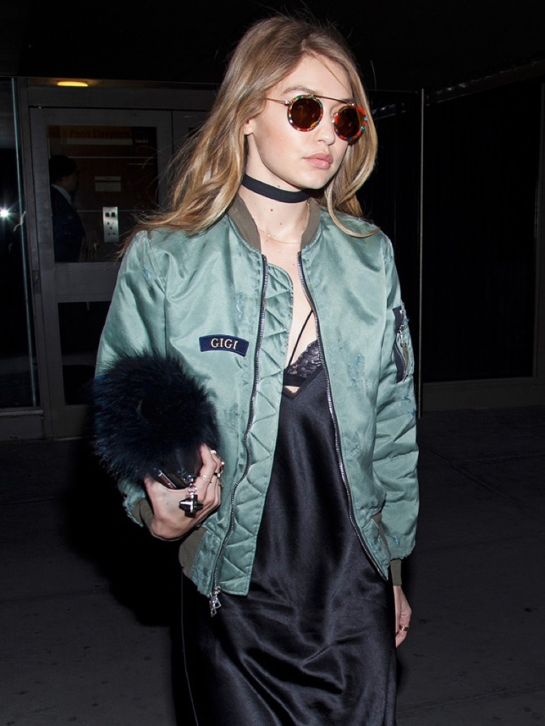 Gigi Hadid at the Kanye West Yeezy Season 3 show departures during New York Fashion Week: Women's Fall/Winter 2016 in New York City. �� LAN (Photo by Lars Niki/Corbis via Getty Images)