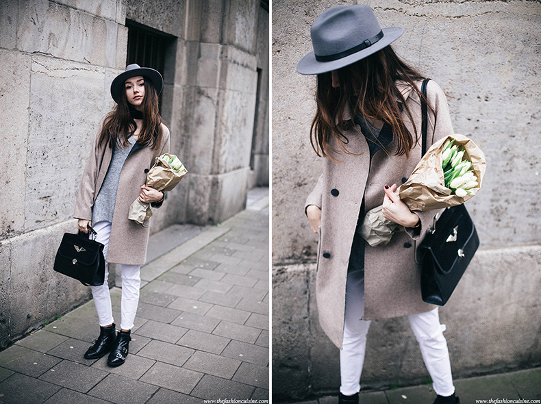 how-to-wear-white-ripped-jeans-winter-trend-2016-asos-oatmeal-cocoon-coat-Brixton-messer-fedora-hat