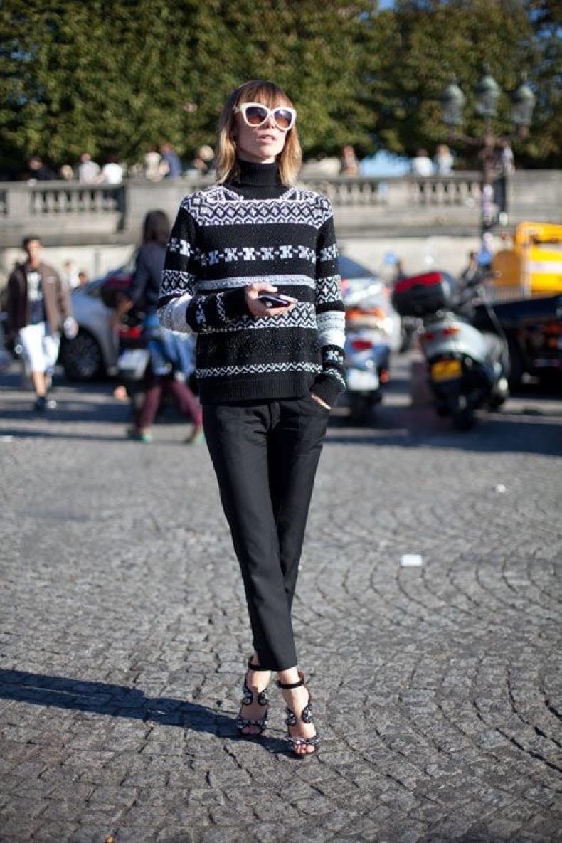 ski-sweater-fair-isle-sweater-black-trousers-pants-turtleneck-sweater-via-harpersbazaar.com_