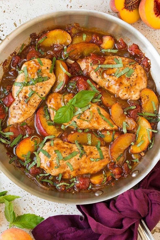 balsamic-peach-chicken-skillet