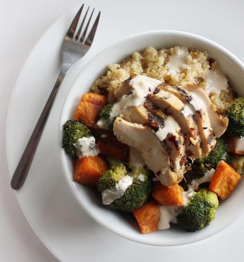 chicken-vegetable-quinoa-bowl