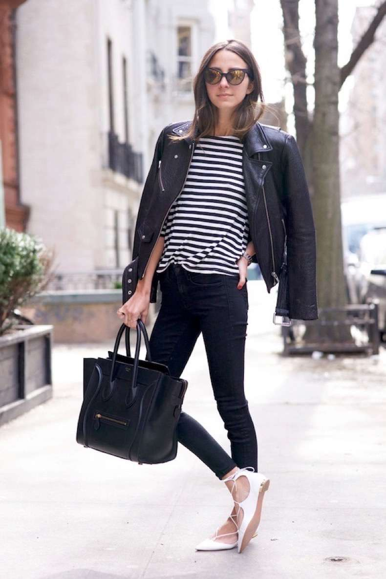 le-fashion-blog-arielle-catfarer-sunglasses-leather-moto-jacket-striped-tee-skinny-jeans-celine-tote-aquazzura-white-lace-up-flats-via-something-navy-1