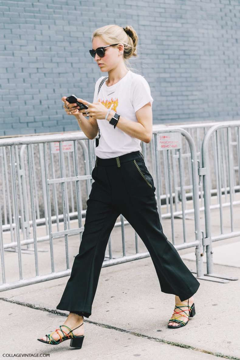 nyfw-new_york_fashion_week_ss17-street_style-outfits-collage_vintage-jessica_minkoff-earrings-graphic_tee-black_trousers-chloe_sandals-gucci_bag-1600x2400