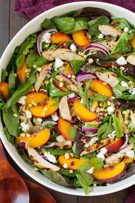 peach-salad-grilled-basil-chicken