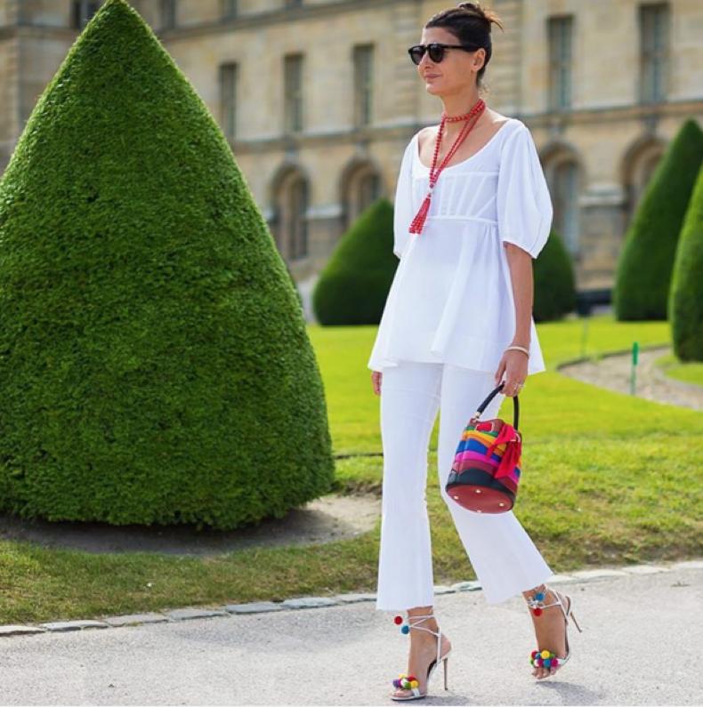 all-white-summer-whites-cropped-flares-pom-pom-sandals-style-du-monde
