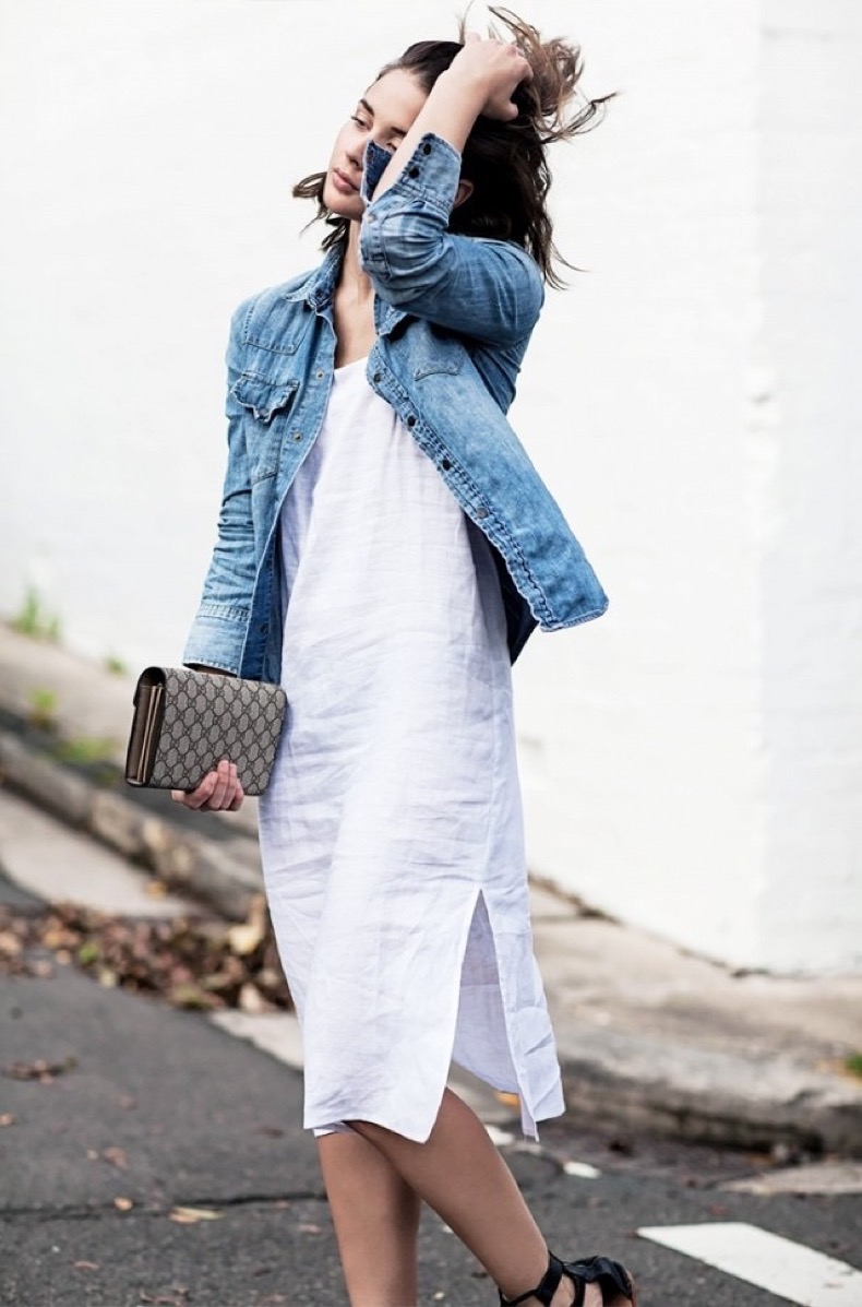 linene-slip-dress-linen-denim-jacket-jean-jeacket-harper-and-harley