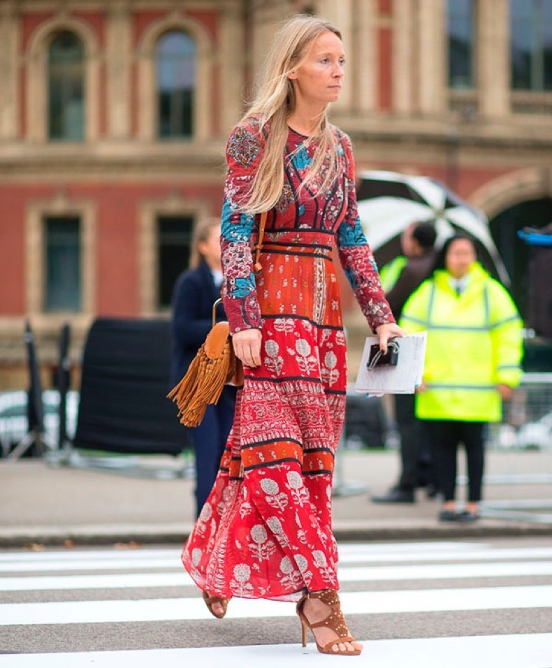 london-fashion-week-street-style-boho-dress-hippie