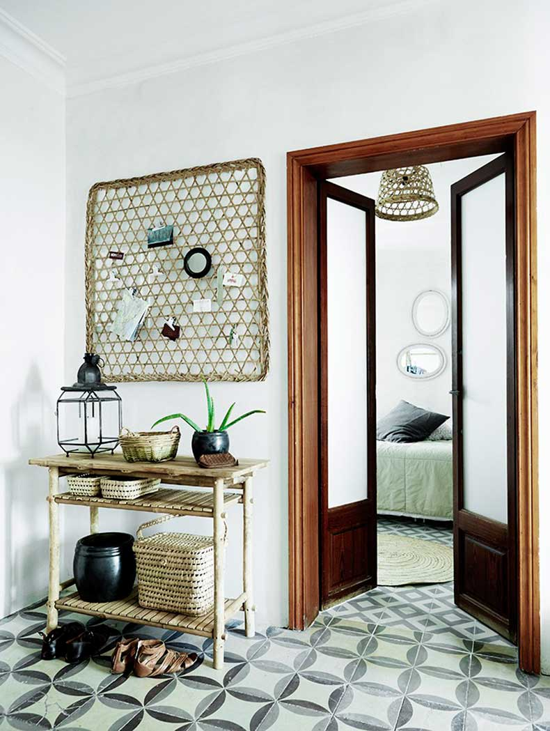 mallorca-apartment-wall-to-wall-cement-tile-hall-hallway-cococozy