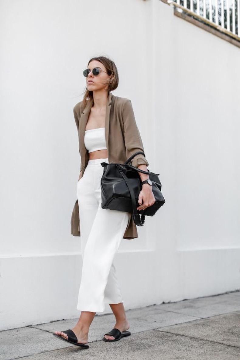 modern-legacy-fashion-blog-australia-street-style-asos-camel-boyfriend-blazer-josh-goot-white-bandeau-top-culottes-slide-sandals
